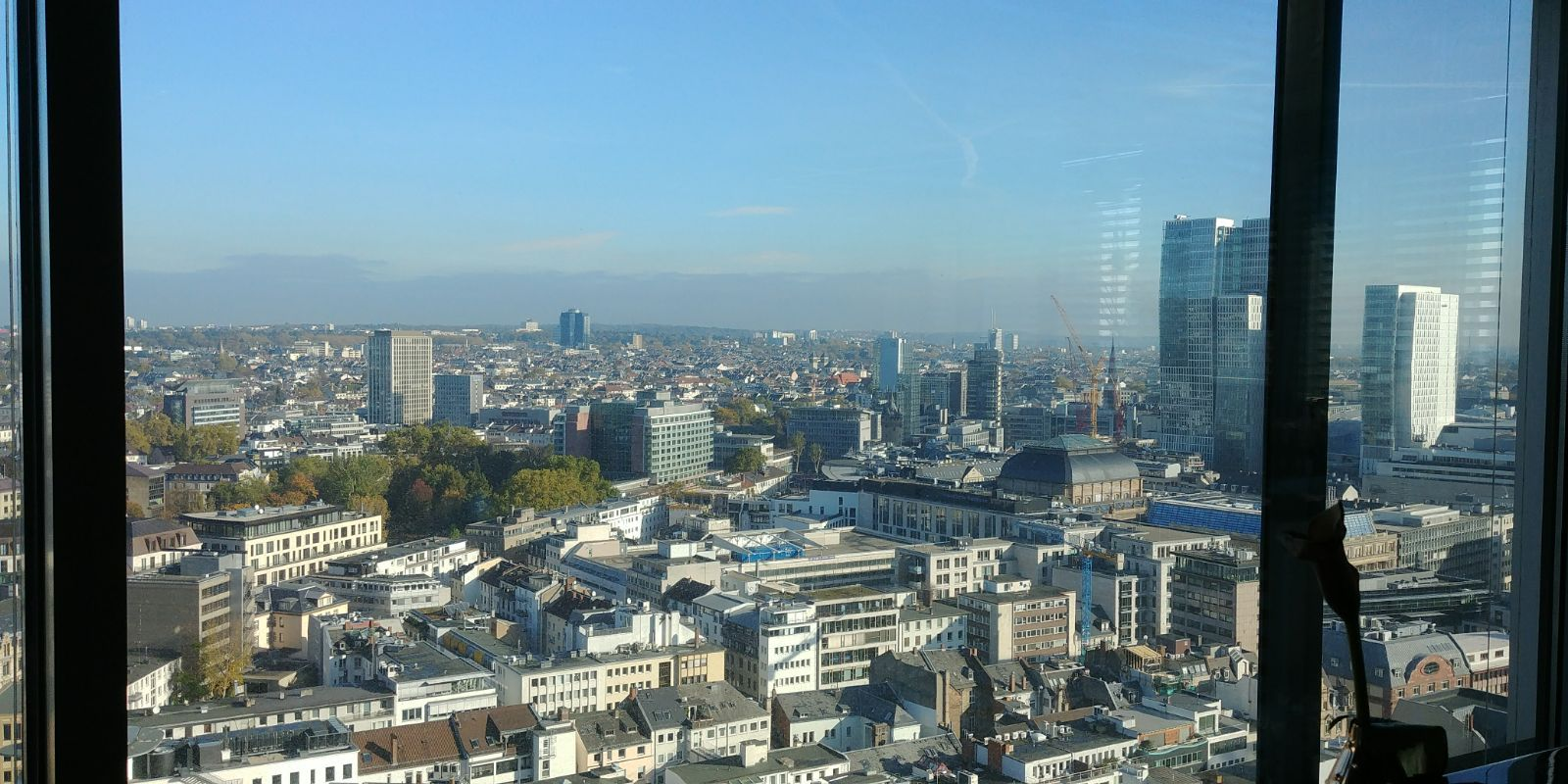 Manifesto Sunny Frankfurt in autumn wide view