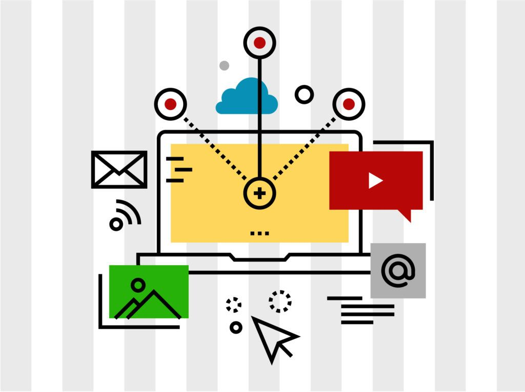 digital marketing vector signs